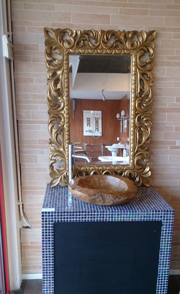 spiegel barok badkamermeubel-arredo, collin arredo wastafelkom in teak ...