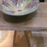 Domiziani waskom op eikenhouten badkamermeubel bijBadexclusief Groningen