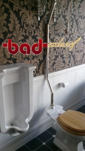 Imperial-bathrooms,( pissoir) klassiek sanitair uit Engeland, victoriaans, art-deco en jugendstile. Klassieke baden op pootjes, of vrijstaande klassieke baden met gietijzeren of koperen ommanteling. Klassiek urinoir , ook mooi in het gastentoilet van stijlvolle kantoren. Particulier , project en B2B, alles te regelen bij badkamerarchitect Badexclusief te Groningen, Nederland.