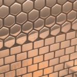 rvs mozaïek tegels , geborsteld rvs en gepolijst rvs.