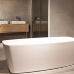 solid surface vrijstaand bad badexclusief badkamerarchitect groningen, nederland.
