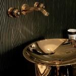 edelmetalen wastafelkommen van zilver en goud van THG Badexclusief